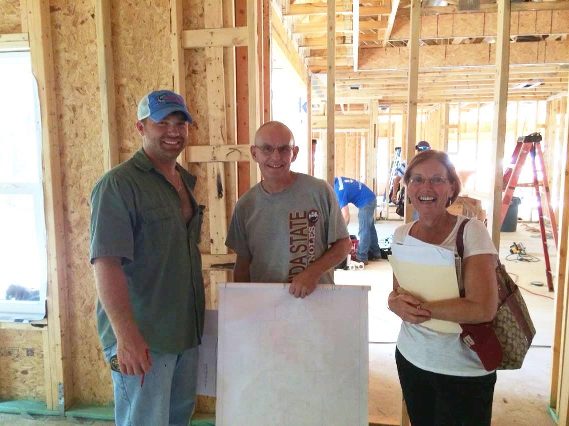 Homeowners-at-framing
